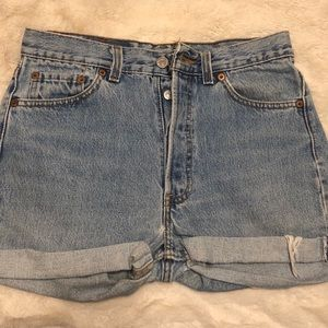 Urban Outfitters' Levi Demin Cuffed shorts